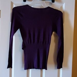 Dots Sweaters - Purple low cut sweater